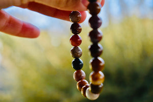 Unisex Multicolour Agate bracelet 8mm