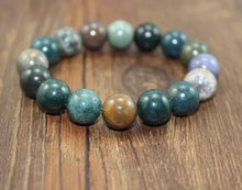 Load image into Gallery viewer, Unisex 10mm Indian Agate Bracelet