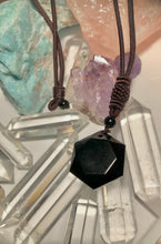 Load image into Gallery viewer, Beautiful Hexagonal Prism Obsidian Necklaces