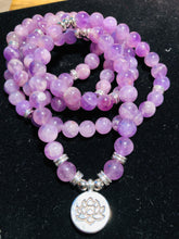 Load image into Gallery viewer, 108 stones AAA quality Amethyst Mala