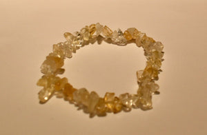 Citrine Stretch Chip Strand Bracelet