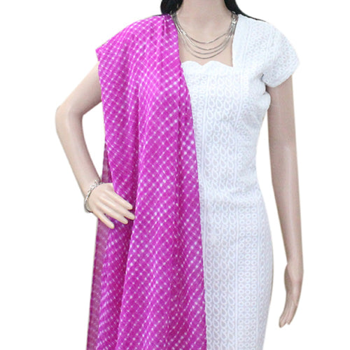 Purple Leheriya Dupatta