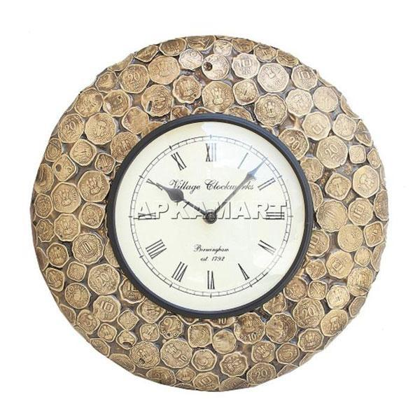 Antique Wall Clock 12 Inch - ApkaMart