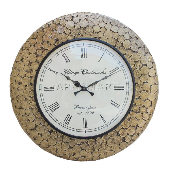 APAKAMART Coin Antique Wall Clock 18 Inch