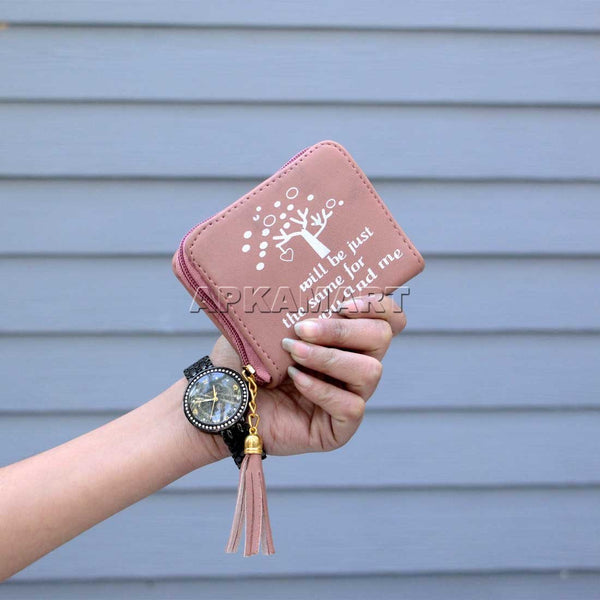 Peach Color Multipurpose Wallet