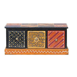 APKAMART 3 Drawer Jewelry Box 11 Inch