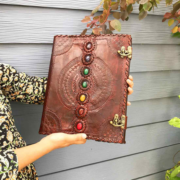 APKAMART Antique Leather Journal 13 Inch