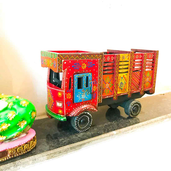APKAMART Antique Truck Showpiece 15 Inch