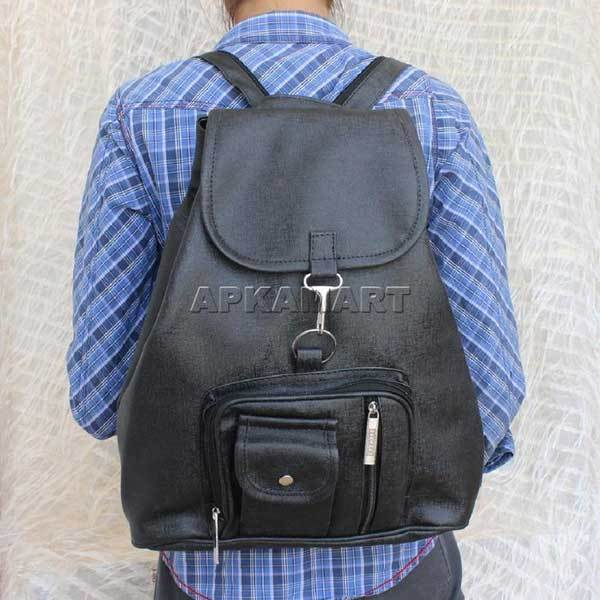 APKAMART Black Backpack