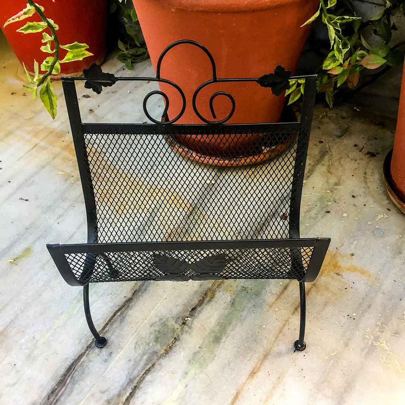 Black Magazine Rack 12 Inch - ApkaMart