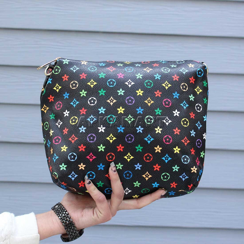 APKAMART Black Printed Bag 9 Inch