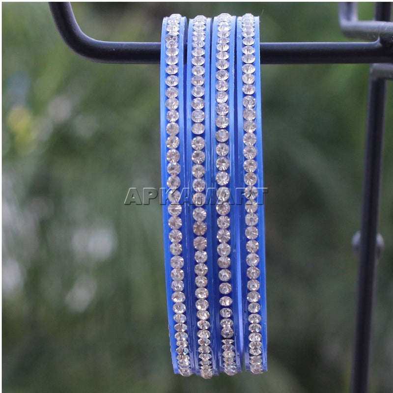 APKAMART Blue Bangle Set
