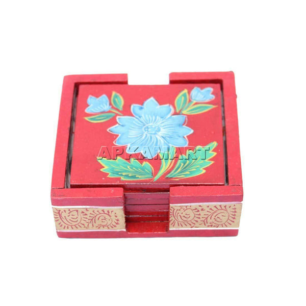 APKAMART Blue Flower Tea Coaster