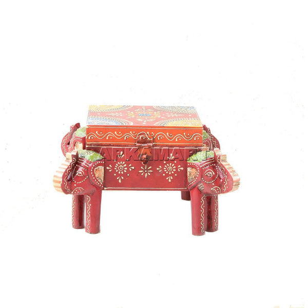 Apkamart Brass Elephant Decorative Box