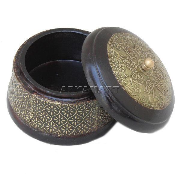 APKAMART Brass Jewellery Box 5 Inch
