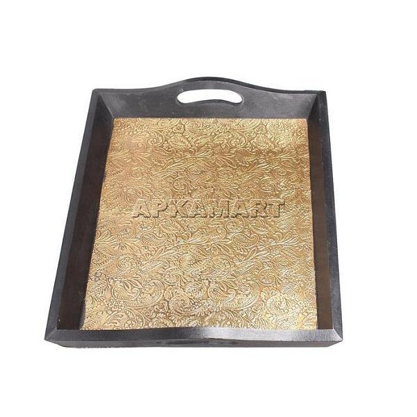Brass Serving Tray 16 Inch