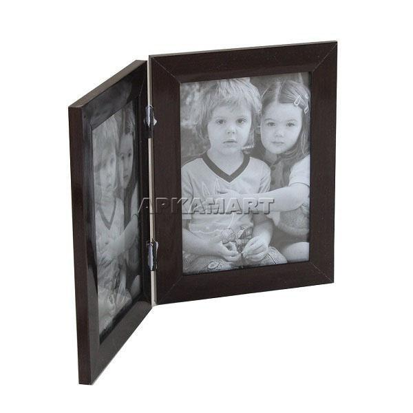 APKAMART Brown Double Sided Photoframe 9 Inch