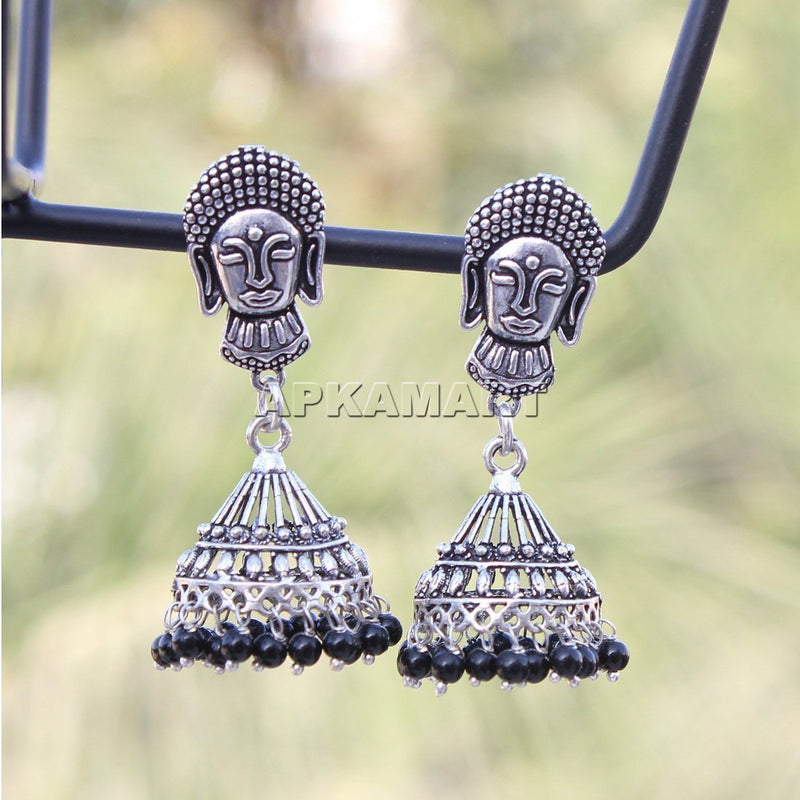 APKAMART Buddha Dome Shaped Jhumkas