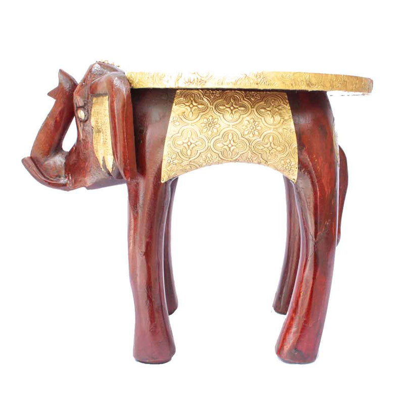 Classic Elephant Side Table 15 Inch