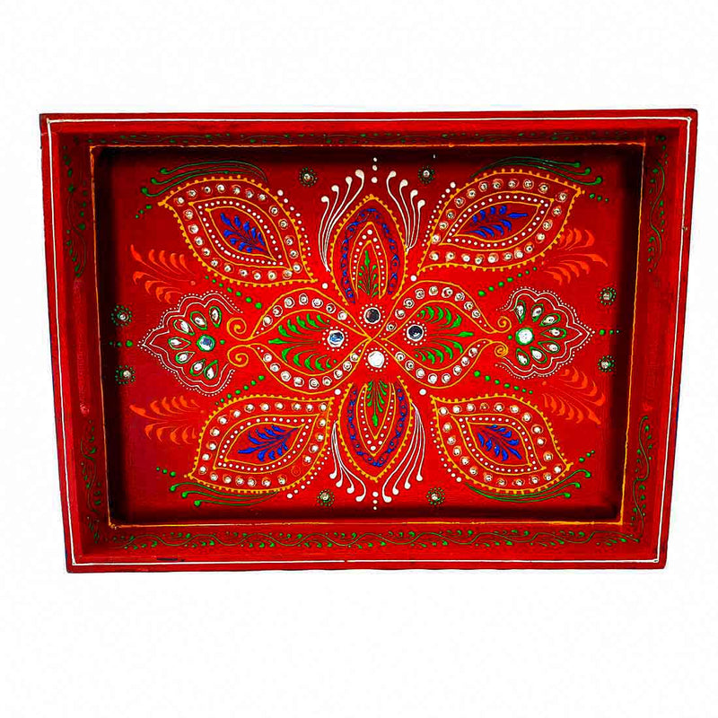 Colourful  Tray 15 Inch - ApkaMart