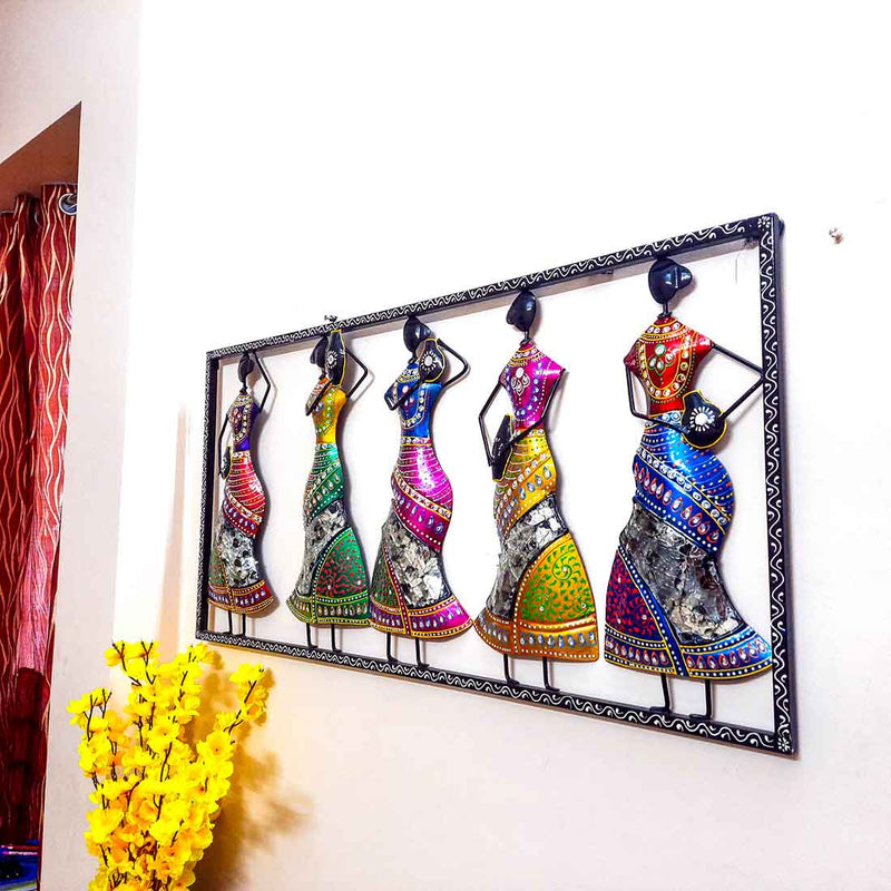 Village Women Wall Hanging 41 Inch - ApkaMart