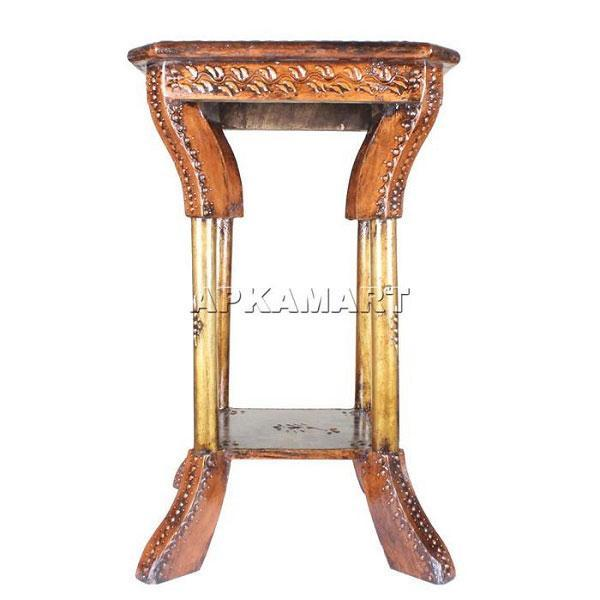 APKAMART Copper Side table 21 Inch