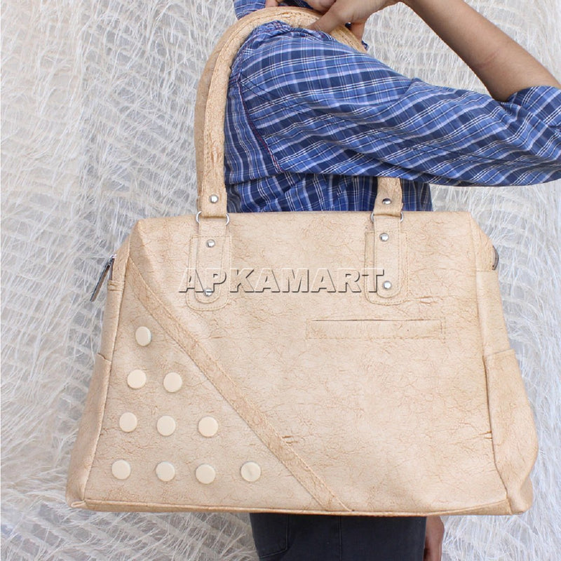 APKAMART Cream Hand Bag