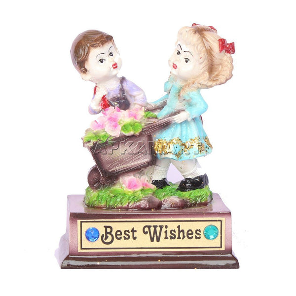 APKAMART Cute Couple Showpiece 6 Inch