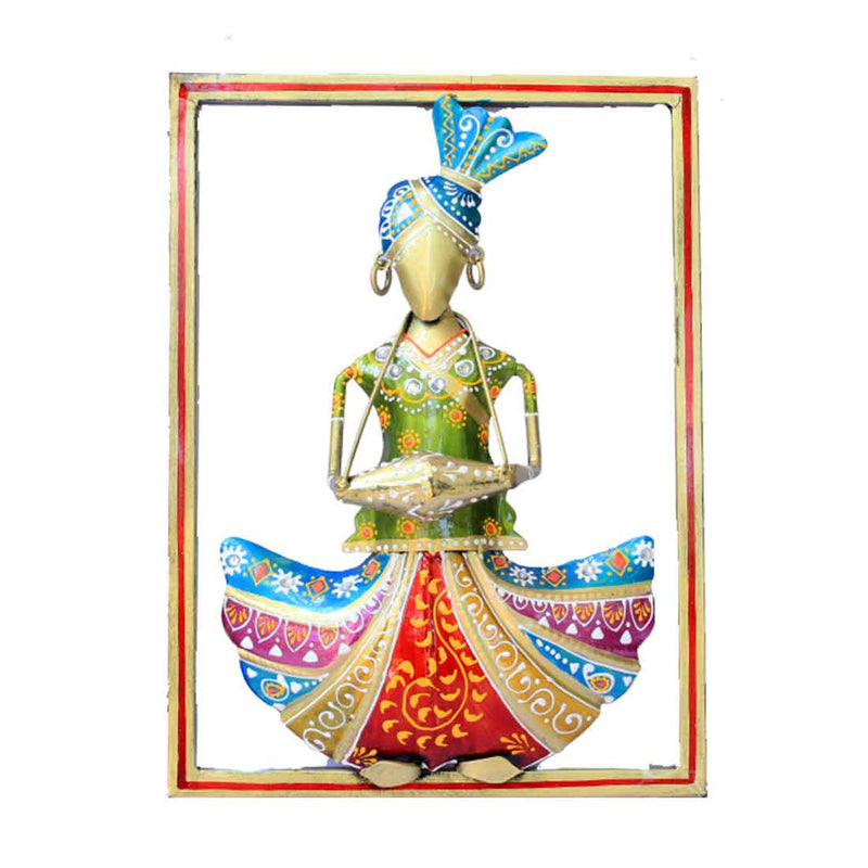 Dholak Musician Wall Hanging 12 Inch