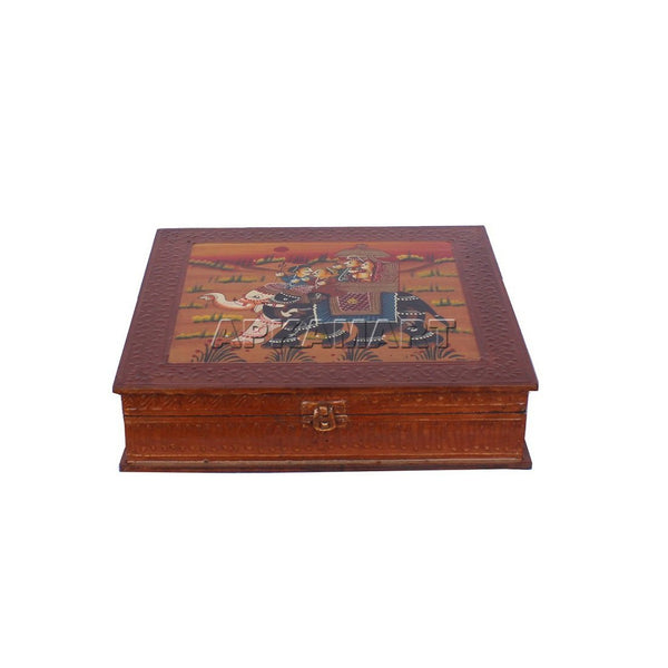 APKAMART Elephant Design Decorative Box 6 Inch