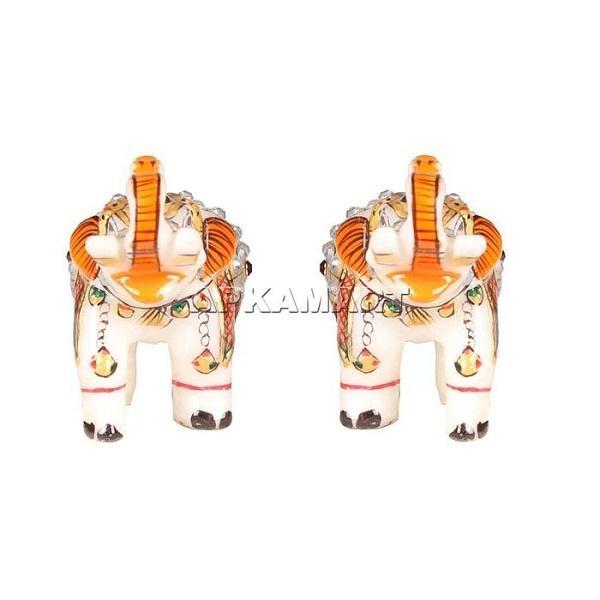 APKAMART Elephant Figurines Set 4 Inch