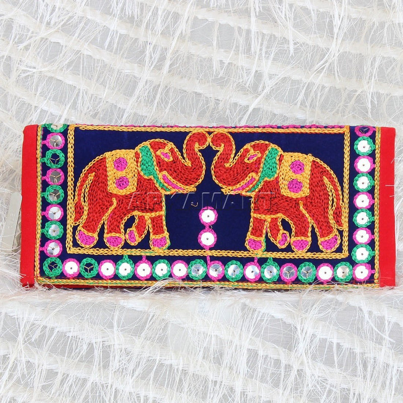 APKAMART Embroidered Traditional Clutch