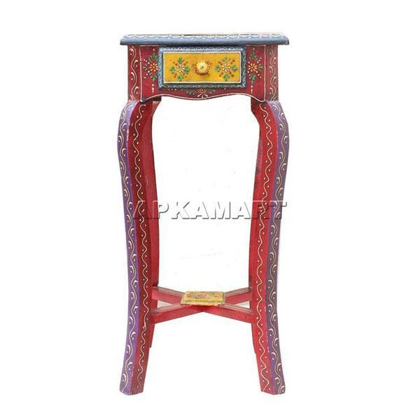 APKAMART Ethnic Bedside Table 18 Inch