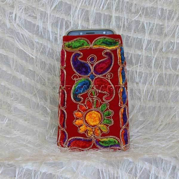 APKAMART Flower Design Mobile Pouch