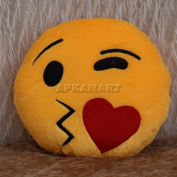 APKAMART Flying Kiss Emoji Pillow