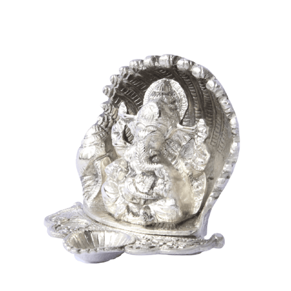 APKAMART Ganesha with Diya Showpiece 5 inch