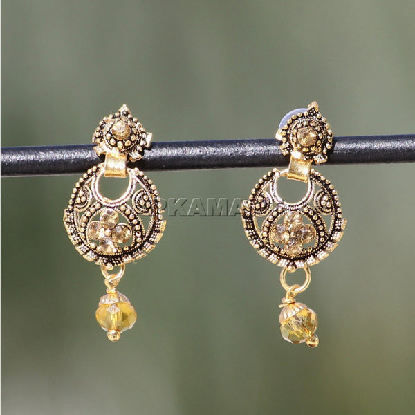 APKAMART Golden Drop Earrings