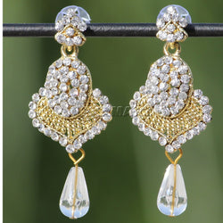 APKAMART Golden Jhumki Earrings