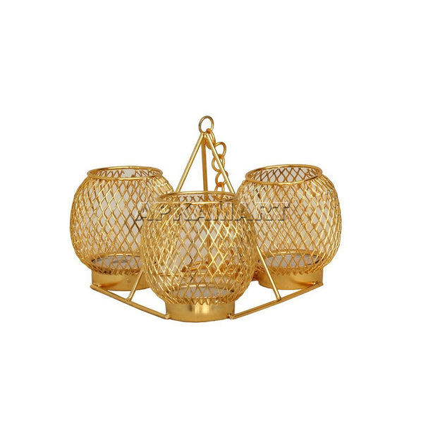 APKAMART Golden Wall Candle Holder 4 Inch