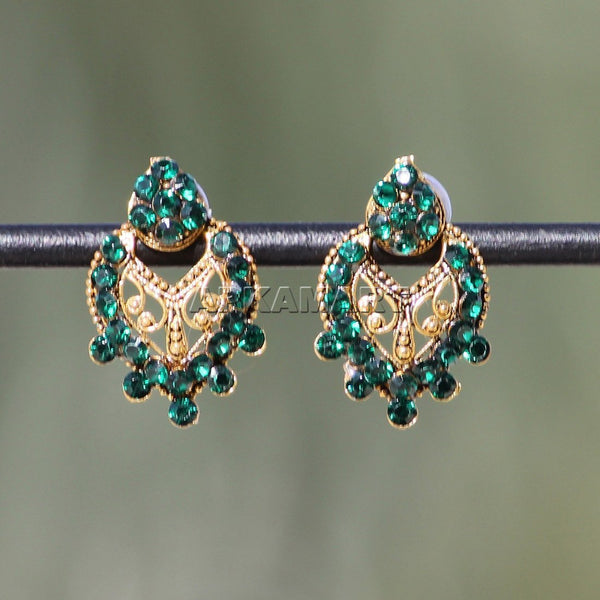 APKAMART Green Beaded Earrings