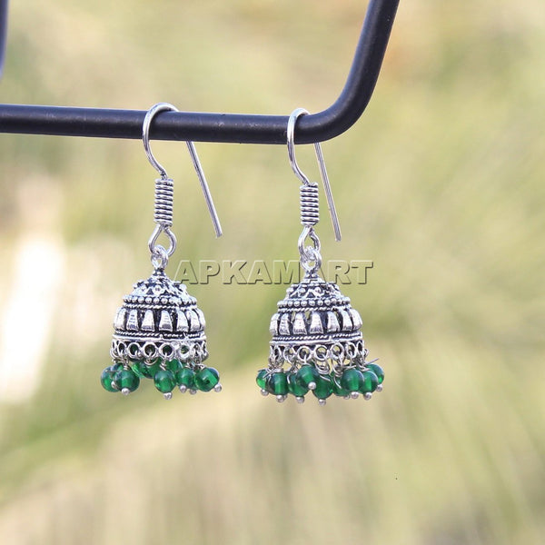 APKAMART Green Dangler Earrings