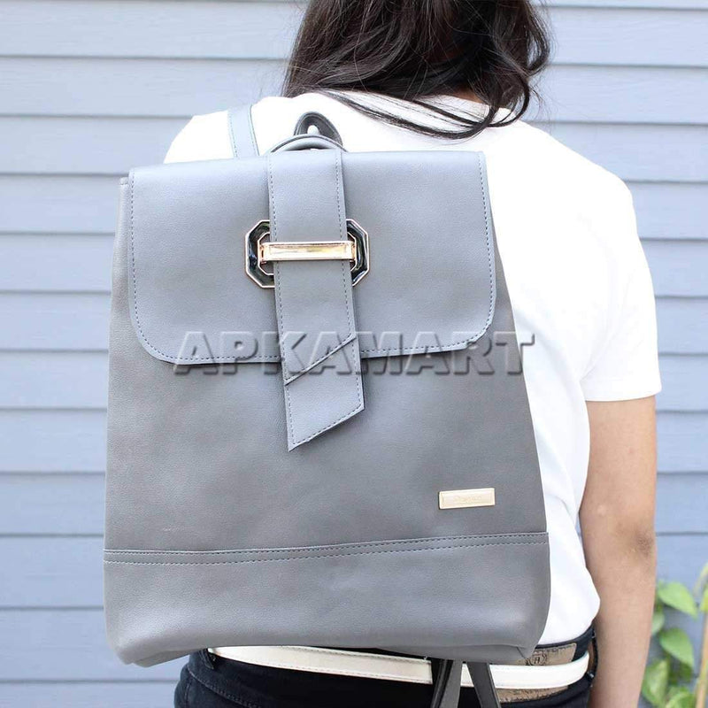 Grey Women Travelling BackPack 13 Inch