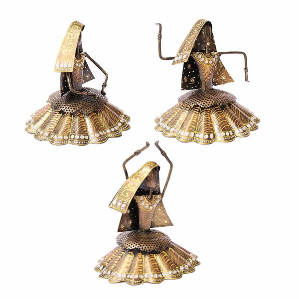 Handcrafted Dancing Ladies set of 3