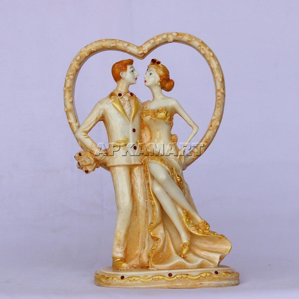 APKAMART Heart Couple Showpiece 7 Inch