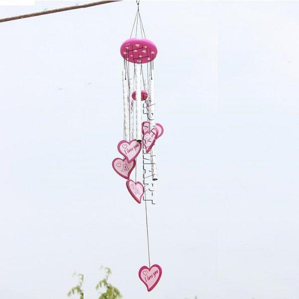 APKAMART Heart Design Wind Chime 28 Inch