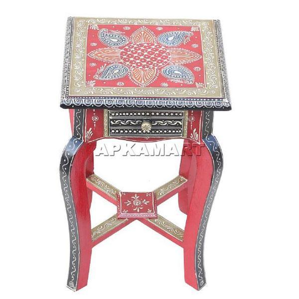 APKAMART Indian Bedside Table 18 Inch