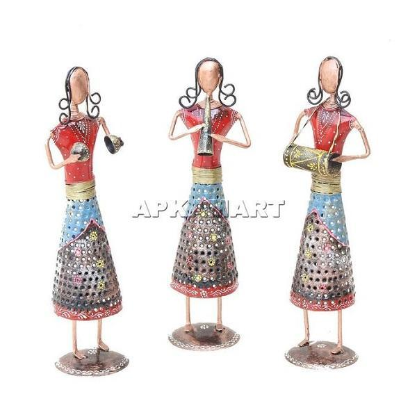 APKAMART Lady Musician Tea Light Set 13 Inch