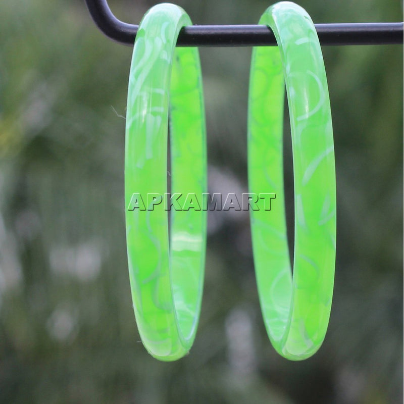 APKAMART Light Green Multicolor Bangles