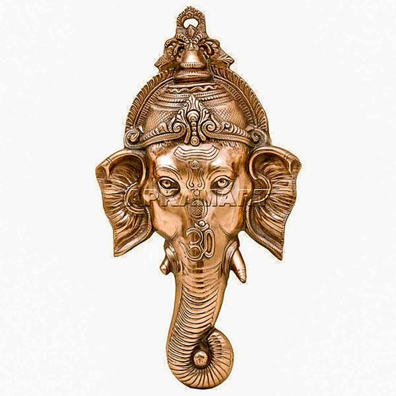 Lord Ganesh Face Wall Hanging 27 Inch - ApkaMart