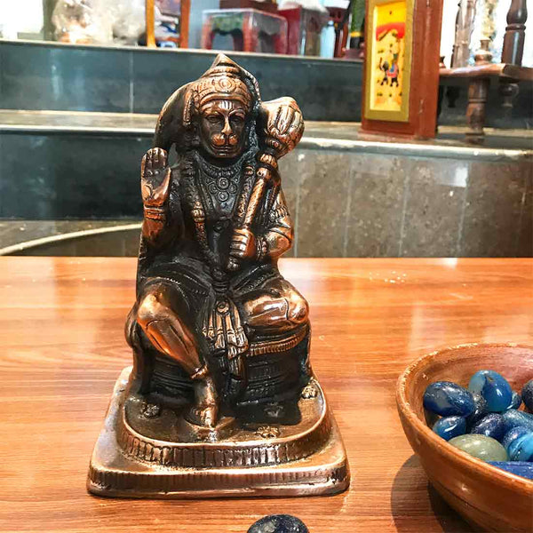 APKAMART Lord Hanuman Sitting Statue 8 Inches